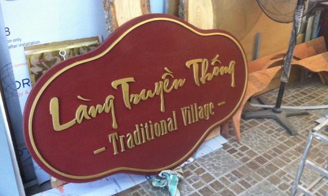 Làm bảng hiệu bằng gỗ dán chữ nổi đẹp