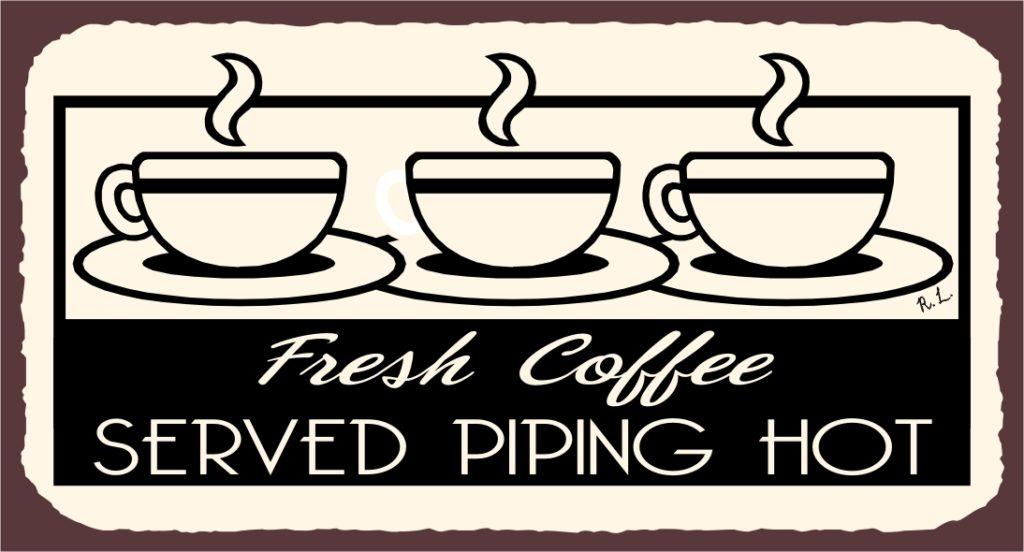 Bảng hiệu quán cà phê với thiết kế khó quên