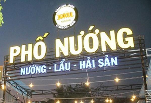 Mẫu bảng hiệu nhà hàng tại Bình Dương