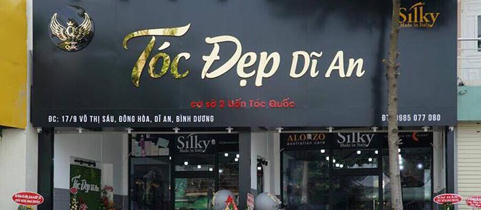 Bảng hiệu quảng cáo tiệm làm tóc tại Bình Dương